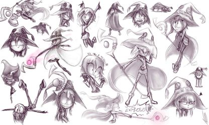 Megumin sketches by palotasadel11