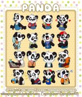 Panda telegram stickers by pandapaco