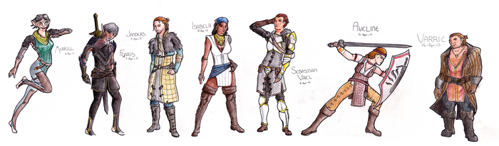 Dragon Age 2: Line up by Emotikonz