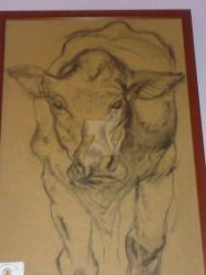 Charcoal cow by Cristy-spain