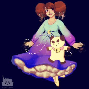 [FanArt] Bee And PuppyCat Space and Sparkles by AugustRein