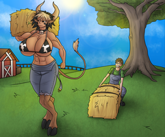 Commission - Hauling Hay by Midas-Bust