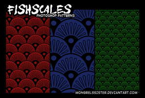 Fishscale Patterns 01 by mongrelmarie