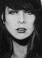 Milla Jovovich.. by candysamuels