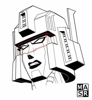Death Chrystal face lines by rattrap587