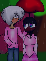 In the rain by Bonnieart04