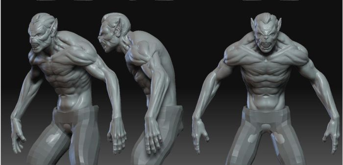 werewolf zbrush by renatothally