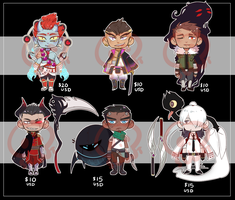 [Adopts] Minis V ||Closed || USD/PTS by skele-tea