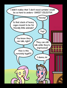 Fluttershy Leans In part 3 - The wrangler by HareTrinity