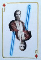Obi Wan Kenobi Playing Card by Maria18Borodina