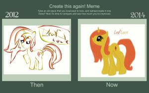 Before and After Drawing MLP by MidnightRarity