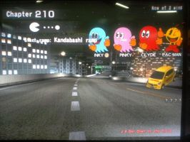 Pac-Man and Ghost in Wangan Midnight by Ilovesonicandfriend