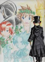 Anime Christmas Carol Ghosts by LordCavendish