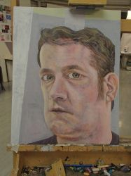 Self Portrait Competition Painting WiP6 by JohnMKimmins