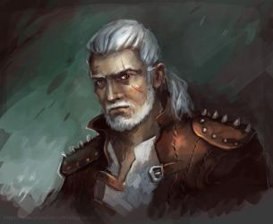 Geralt of Rivia (Witcher fan art) by Charmrock