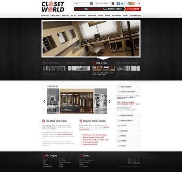 web design: Closet World by VictoryDesign