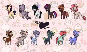 {CHEAP} Big Pony Batch!!! (7/12 OPEN) by xMikuLovex