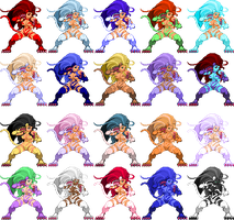 MVC2 Felicia Palettes by CaliburWarrior