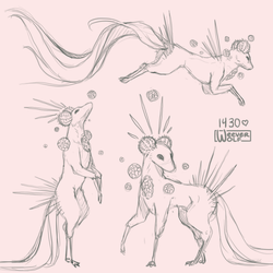 Esk 1430 Sketch Page by WeeverWolf