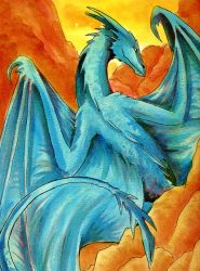 Blue Dragon by raerae