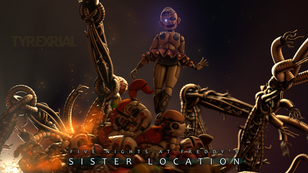 [SFM] Sister Location: Become Human [TFM3 CONTEST] by Tyrexrial