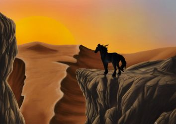 The Sun Always Sets Late In The Desert by SophiePf