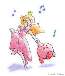 Peach And Kirby Return by GreenMage