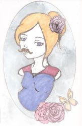 lady of the Moustache by Imogen-RoseCranmer