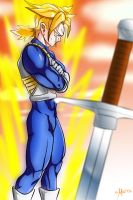 Super Saiyan Trunks, Warrior from the future by LM-Ilustraciones