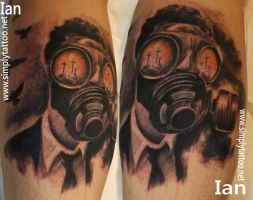 Gas mask by SimplyTattoo