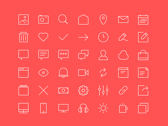 Freebie 2px lines 48x48px Icons by skorky