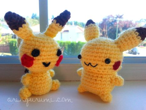 my pikachus - now and then by valeriarin