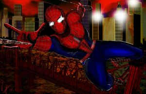 My art for Spiderman 2 by SH4D0VVKN1GHT
