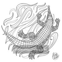 Gharial (The Exotic Colouring Book) by megcowley