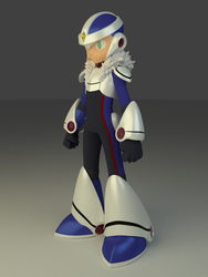 Mega Man Over-1 Model by PixelSpriteArt