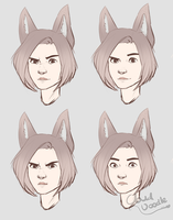 Expression Practice Woooo by CloudDoodle