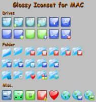 Glossy Iconset for MAC by artful-xtra