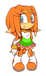 Makeover - Tikal the Echidna by Cylent-Nite