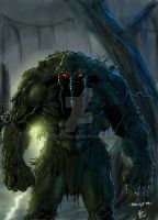 Collaboration: Man-thing by Dark-thief