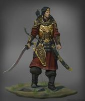 Mongol warrior by Naranb