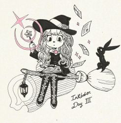 Rabbit Witch - Inktober #3 by ReiBaal