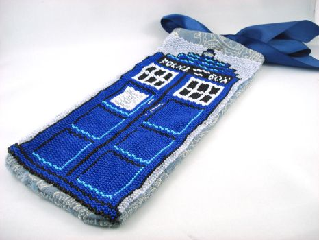 Beaded Tardis Evening Bag by angelyques