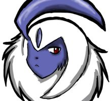 Absol is not pleased by Kurai-the-Bleeding