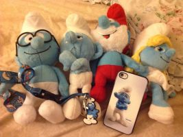 All of my smurfy stuff by RichHoboM3