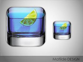 blue angel cocktail icon by Matylly