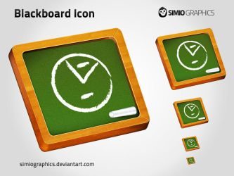 Blackboard icon by simiographics