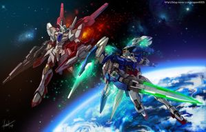 Gundam OO fanart by GoddessMechanic