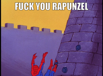 Screw you Rapunzel by onyxcarmine