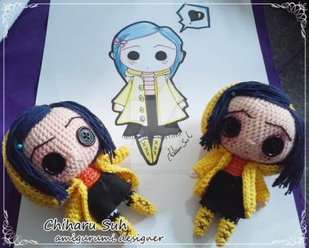 Chibi Coraline Jones by Chiharu Suh by Amigurumi-sweetheart