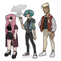 Punk kids by limeSmoothie